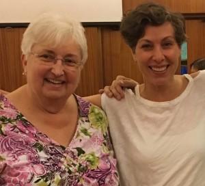 Dorothy Jones and Lenni Jabour, June 2017, London Ontario.
